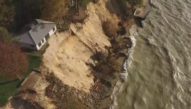 park township lake michigan erosion
