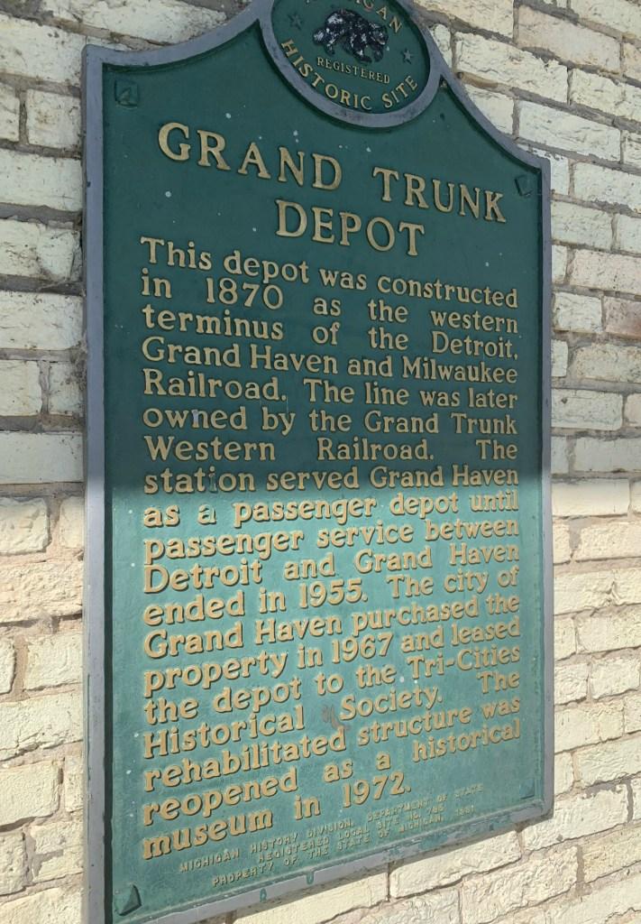 grand trunk depot historical marker