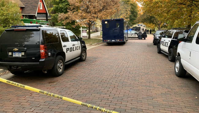 A photo of a shooting on Blakeslee Street in Kalamazoo. (Oct. 25, 2019)