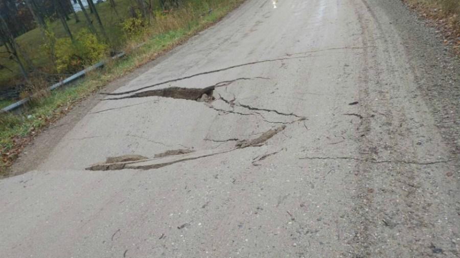 larsen road collapse