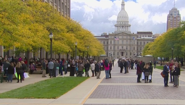 Thousands protest mental health provider changes in Lansing