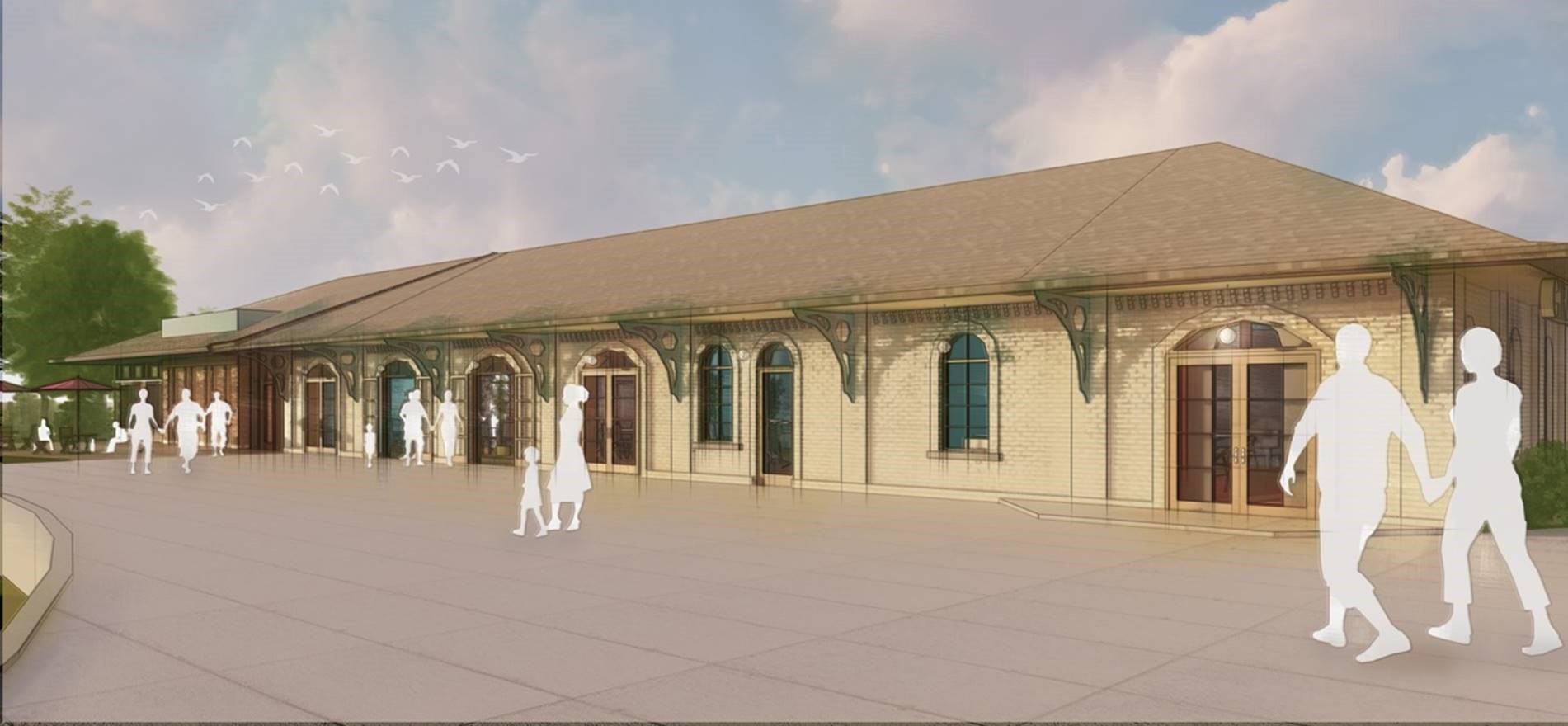 grand trunk depot rendering