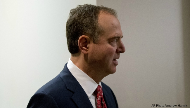 Rep. Adam Schiff, D-Calif., Chairman of the House Intelligence Committee, arrives at a closed door meeting on the ongoing House impeachment inquiry into President Donald Trump on Capitol Hill in Washington, Tuesday, Nov. 5, 2019. (AP Photo/Andrew Harnik)