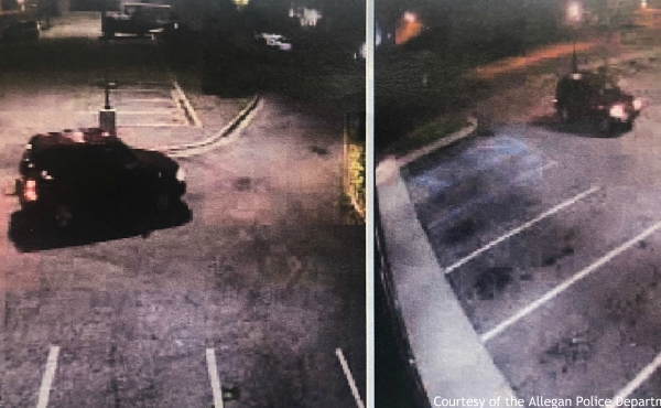 Officers believe the vehicle pictured was involved in more than a dozen vehicle break-ins in downtown Allegan on Nov. 5. (Courtesy of the Allegan Police Department)