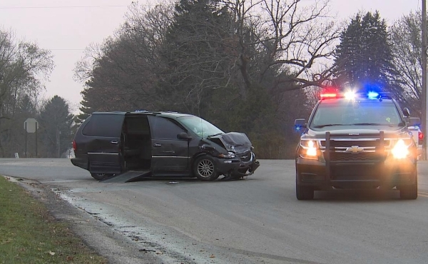 A photo of a crash in the area of Northland Drive and 16 Mile Road NE in Algoma Township. (Nov. 18, 2019)
