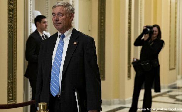 FILE - In this Oct. 4, 2019 file photo, Rep. Fred Upton, R-Mich., is seen at U.S. Capitol in Washington. (Anna Moneymaker/Pool via AP)