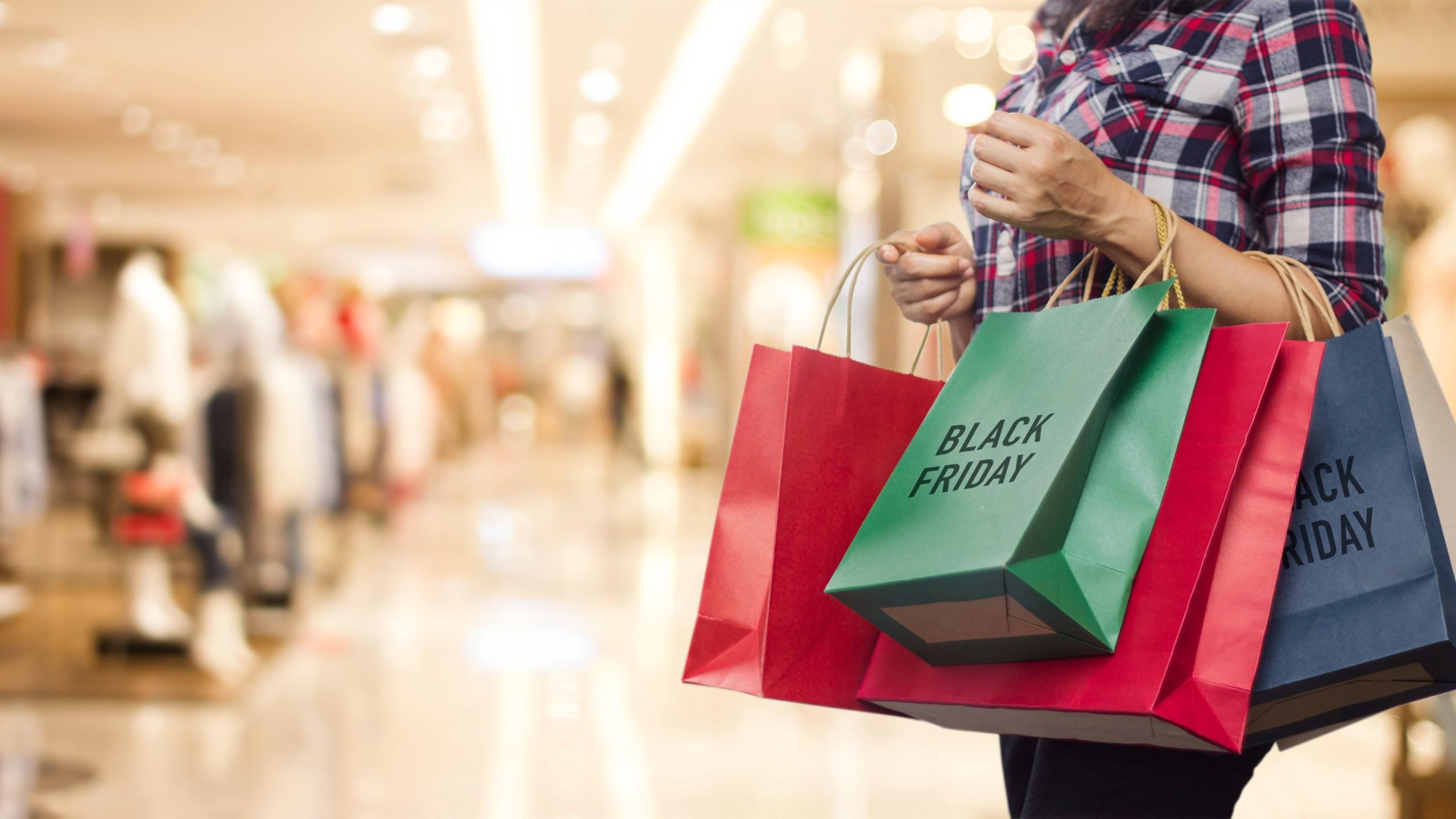 Black friday shopper.