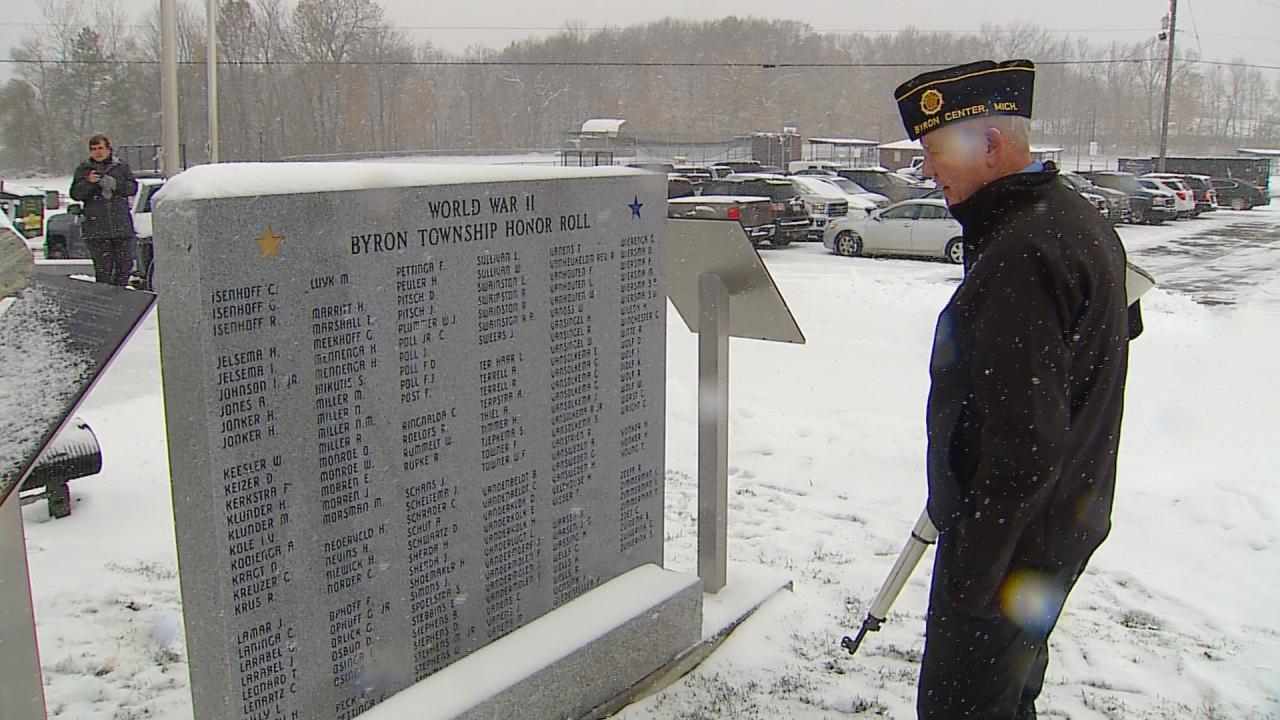 World War II memorial monument