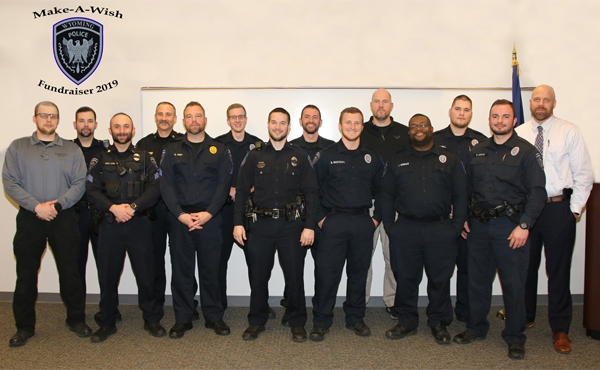 A handful of the nearly 40 Wyoming officers participating in No Shave November.