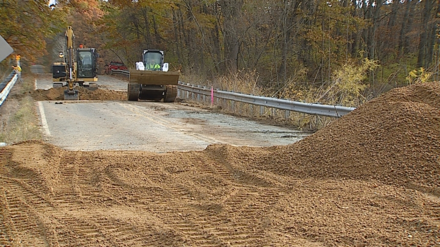 barry county 3 Mile Road construction