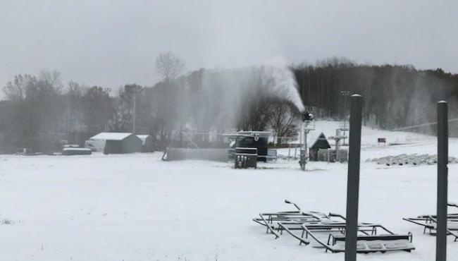 A photo of the Cannonsburg Ski Area on Nov. 13, 2019.