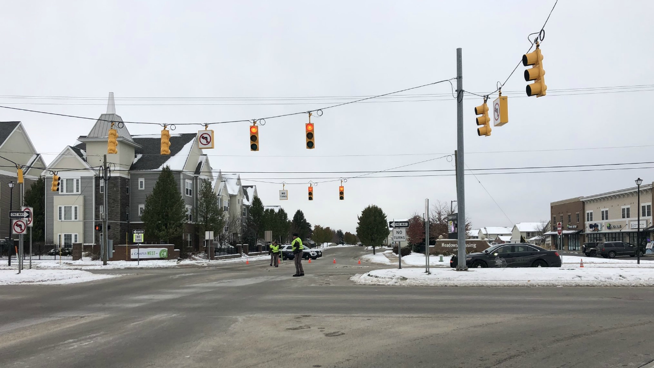 allendale township 48th avenue and west campus drive crash scene
