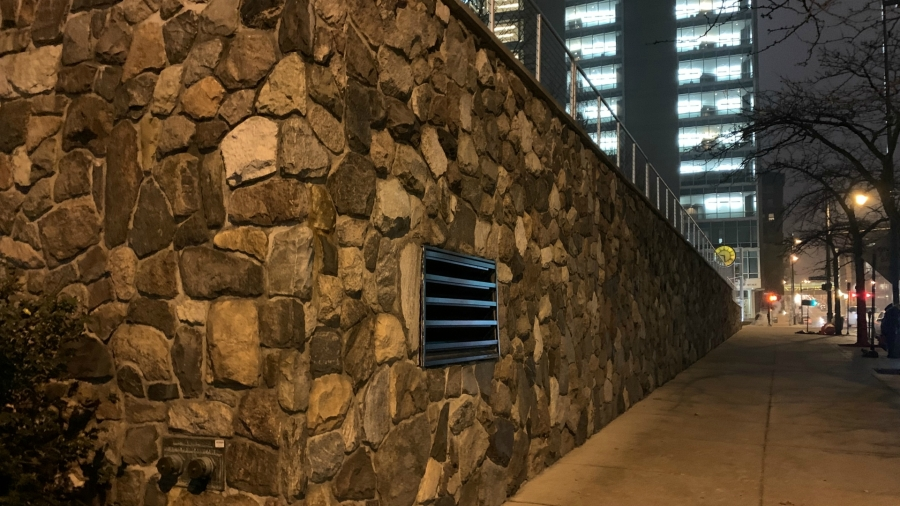 downtown grand rapids lyon street nw granite wall