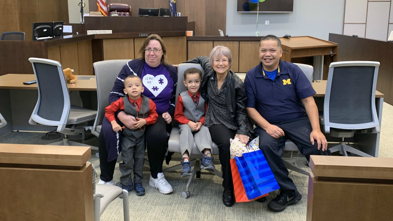 Seven families celebrated at Kalamazoo Adoption Day