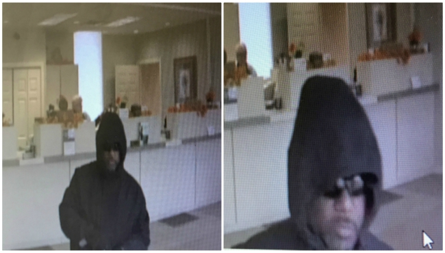 Surveillance photos of the suspect who robbed the Chemical Bank in Middleville on Nov. 26, 2019. (Courtesy of the Barry County Sheriff's Office)