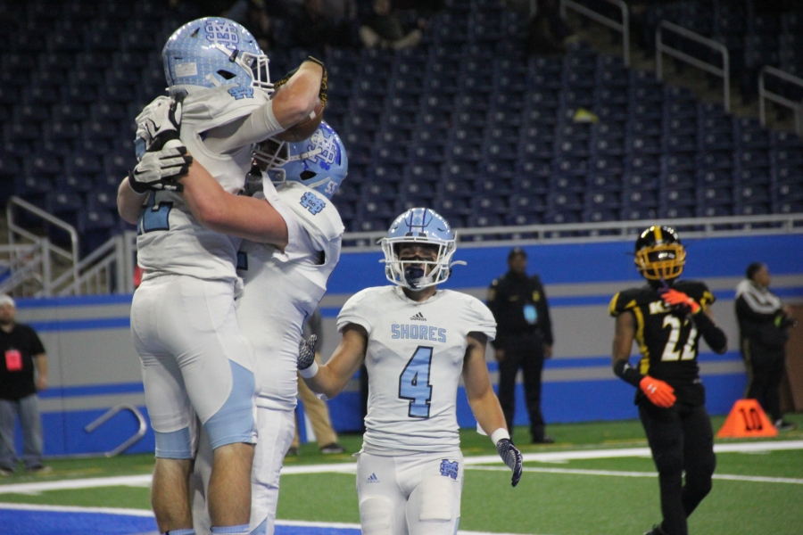 Mona Shores defeated Detroit Martin Luther King to win the Division 2 state finals at Ford Field in Detroit. (Nov. 29, 2019)