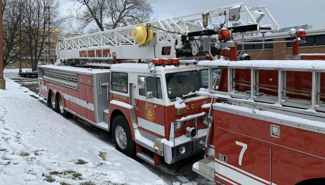 A photo of Battle Creek Fire Department trucks up for auction. (Dec. 10, 2019)