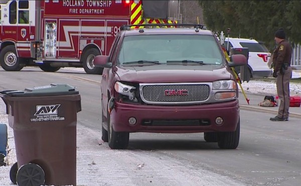 Authorities investigating after 16-year-old girl was struck and killed by vehicle in Holland Township Wednesday, Dec. 11, 2019.
