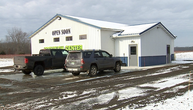 A photo of the dispensary managed by the same family that owns the Leduc Blueberry Farm in Van Buren County. (Dec. 12, 2019)