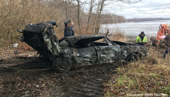 A photo of a car that was found in Morrow Lake in Comstock Township. (Courtesy of Kalamazoo County Undersheriff James VanDyken)