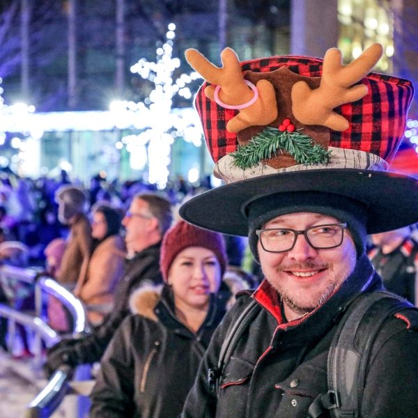 Grand Rapids celebrated the holidays Dec. 6, 2019 with a big public party to light city's Christmas tree. (Michael Buck/WOOD TV8)