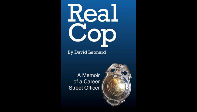 "A photo of the ""Real Cop"" book cover, which was published by retired Grand Rapids Police Department Officer David Leonard."