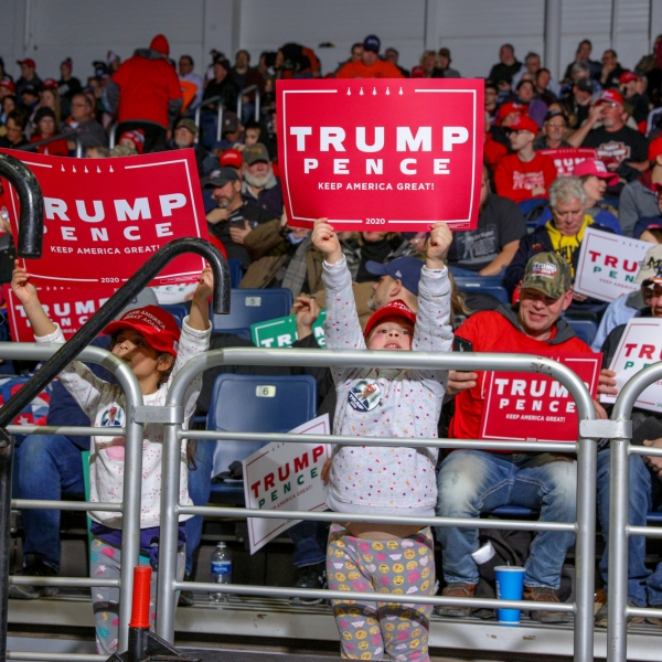 President Donald Trump came to Battle Creek for a campaign rally on Dec. 18, 2019. (Michael Buck/WOOD TV8)