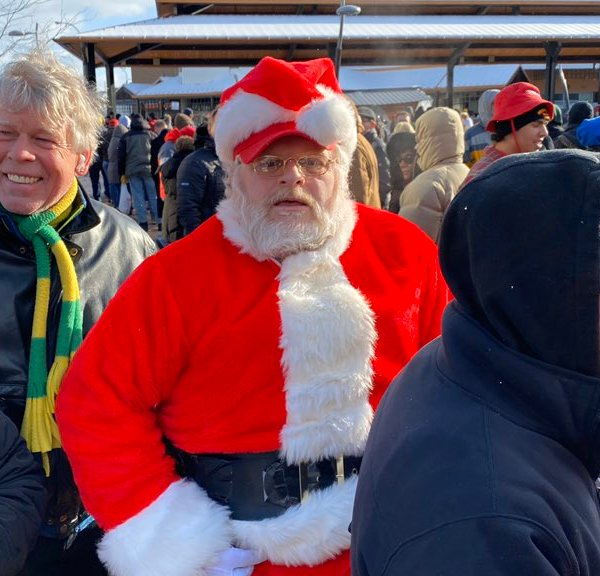Crowds gather before President Donald Trump and Vice President Mike Pence came to Battle Creek for the Merry Christmas rally at Kellogg Arena on Dec. 18, 2019.