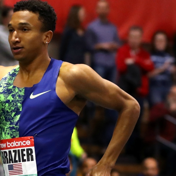 BOSTON, MASSACHUSETTS - JANUARY 25: Donavan Brazier of the United States competes in the Men's 600m during the New Balance Indoor Grand Prix at Reggie Lewis Center on January 25, 2020 in Boston, Massachusetts. (Photo by Maddie Meyer/Getty Images)