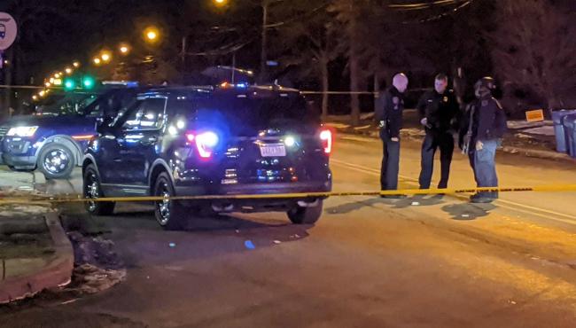 A photo of a shooting on Franklin Street SE, near Neland Avenue SE in Grand Rapids. (Jan. 3, 2020)