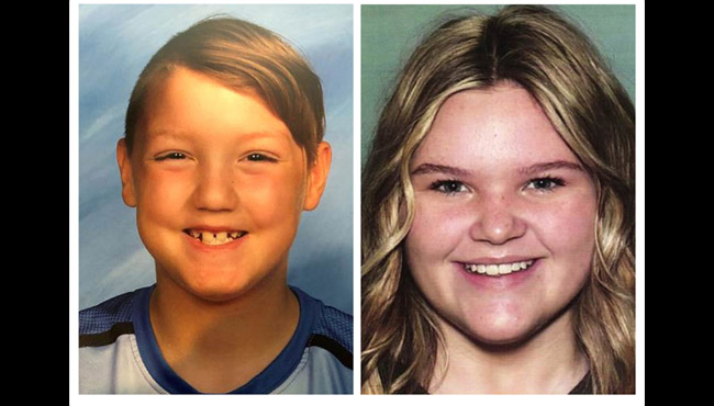 "This combination photo of undated file photos, released by National Center for Missing & Exploited Children, show missing children Joshua ""JJ"" Vallow, left, and Tylee Ryan. (National Center for Missing & Exploited Children via AP, File)"
