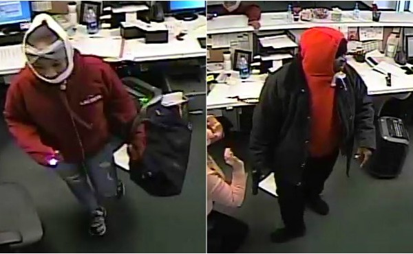 Two suspects wanted in connection to an armed robbery in Comstock Township Thursday, Jan. 17, 2020.