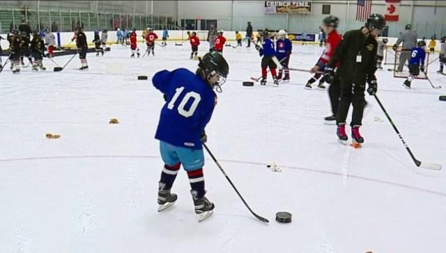 Foundation helps hockey player keep skating after losing vision