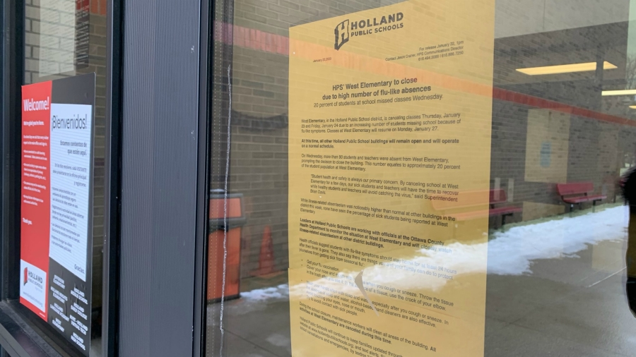 holland west elementary closed flyer