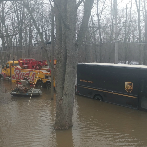 ups truck flooded willow drive