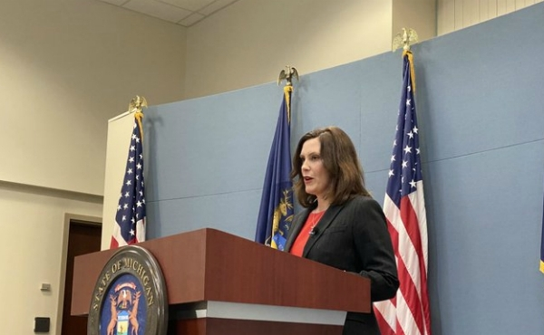 Gov. Gretchen Whitmer talks about her State of the Union response in Lansing. (Feb. 2, 2020)