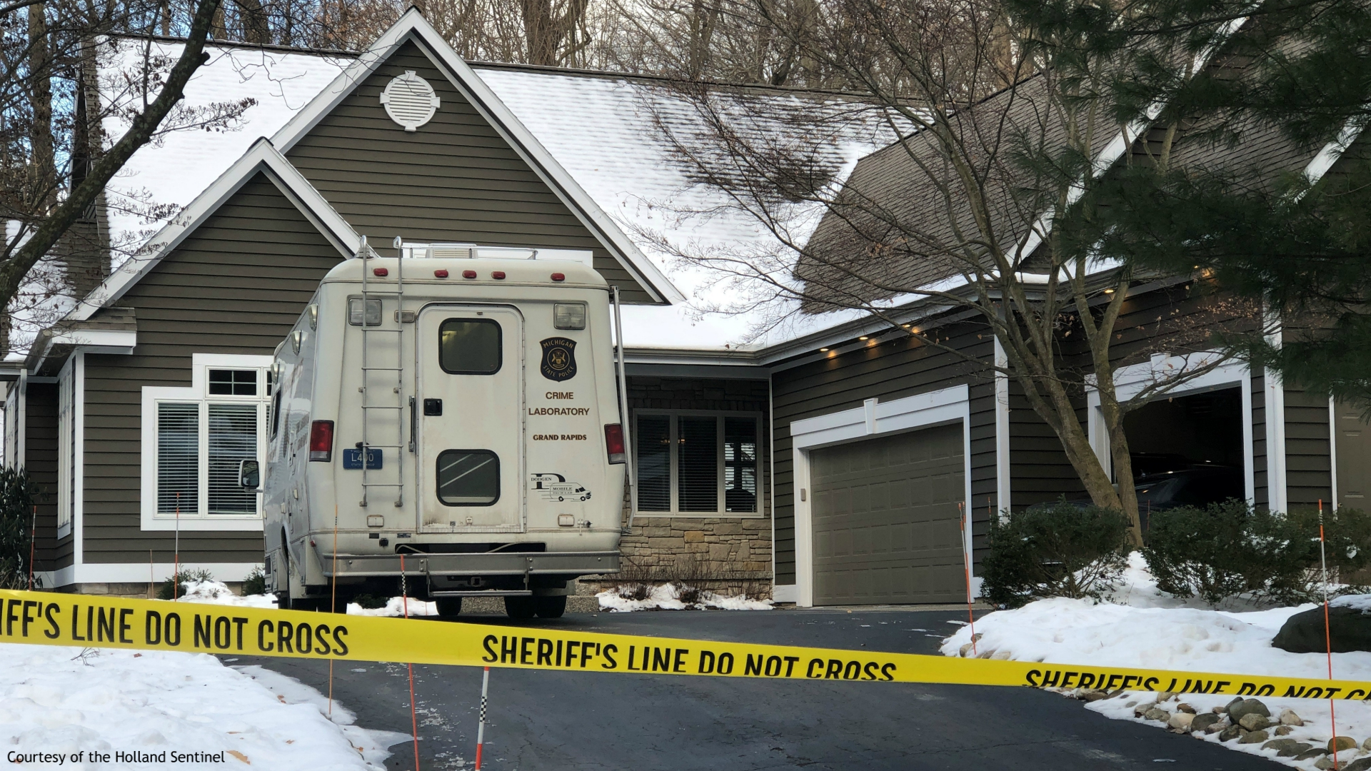 Authorities investigated a death at a Laketown Township home on Feb. 18, 2020. (Courtesy of the Holland Sentinel)