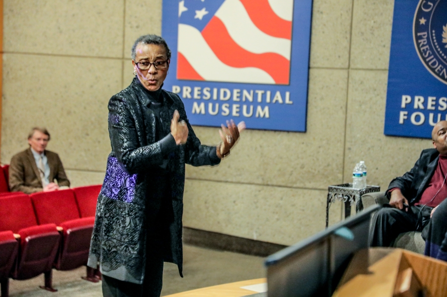 The Continual Struggle Exhibit debuted at the Gerald R. Ford Presidential Museum on Feb. 20, 2020. (Michael Buck/WOOD TV8)