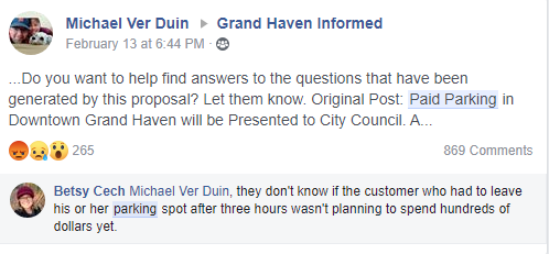 grand haven paid parking outrage