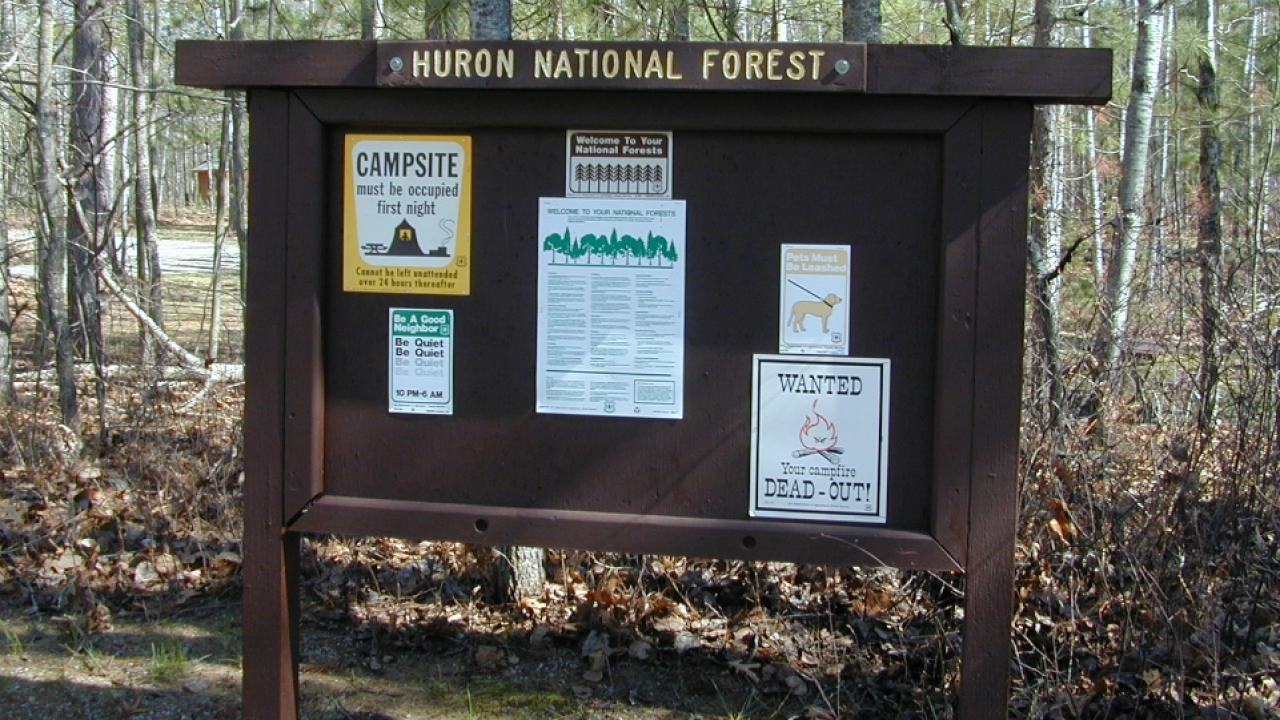 Huron-Manistee National Forests waives fees Monday