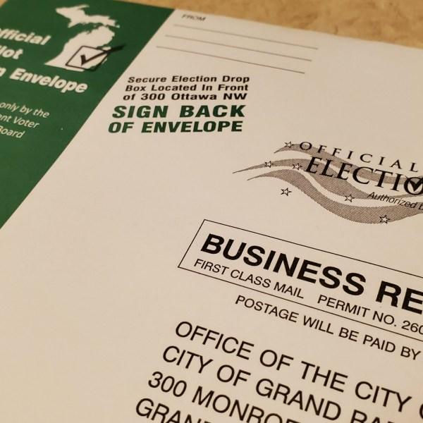 absentee ballot return envelope