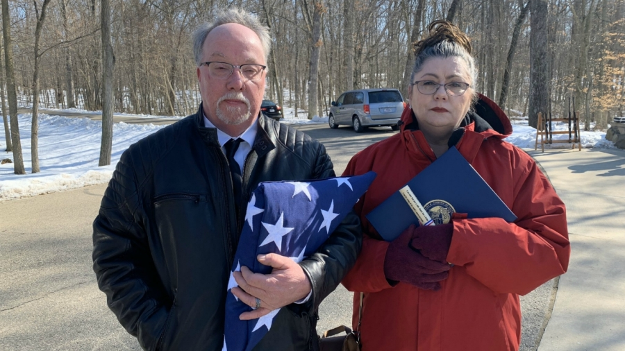 Jim Cook's friend, Michael Berryhill and his wife, Tia on Feb. 21, 2020.