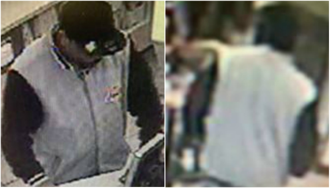 Photos of a suspect in seven vehicle break-ins in Kalamazoo. (Courtesy of the Kalamazoo Department of Public Safety)