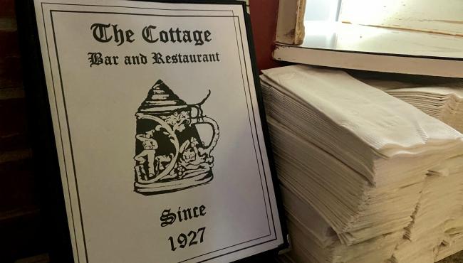 A photo of a menu at Cottage Bar in Grand Rapids. (Feb. 5, 2020)