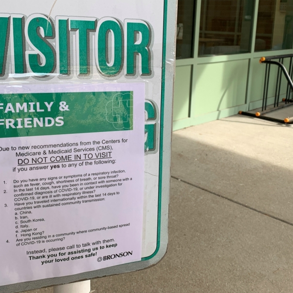 Bronson Commons puts procedures in place amid virus outbreak. (March 12, 2020)
