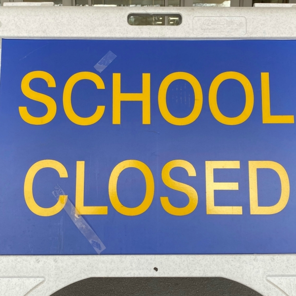east grand rapids high school school closed sign