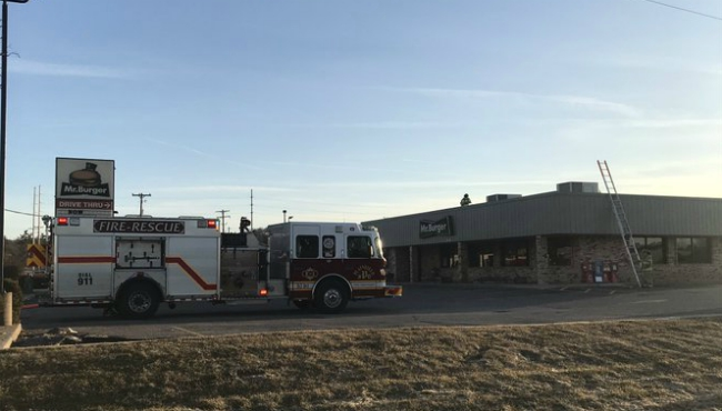 Mr. Burger in Plainfield Township caught on fire on March 7, 2020. (