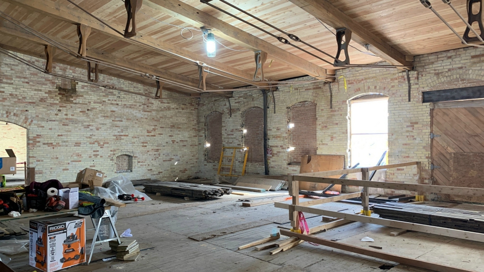 Construction underway at the Mill at Vicksburg. (March 5, 2020)