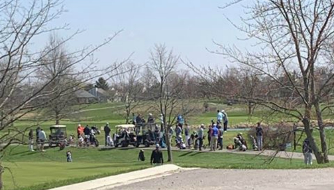 A courtesy photo sent by a WOOD TV8 viewer of a golf course during the stay at home order. (April 11, 2020)