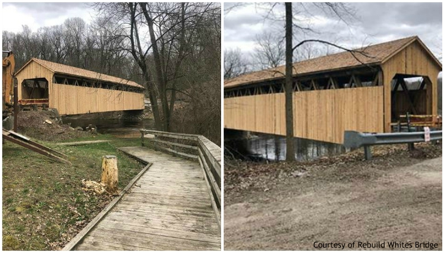 White's Bridge in eastern Ionia County has been nearly completed. (Courtesy of Rebuild Whites Bridge)